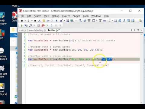 Node js tutorial for beginners - 8 - Buffers and Octets 1