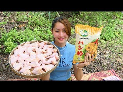 Yummy Crispy Chicken Wing Frying Chili Sauce - Crispy Chicken Wing Cooking - Cooking With Sros