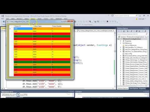 C# - How To Set Color To DataGridView Rows In C# [ with source code ]