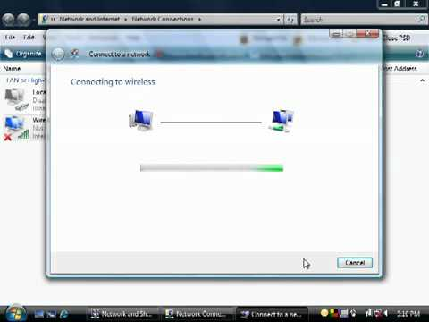 Windows Vista - How to Connect to a Wireless Network