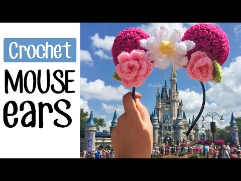 Crochet Floral Mouse Ears for Disney World!