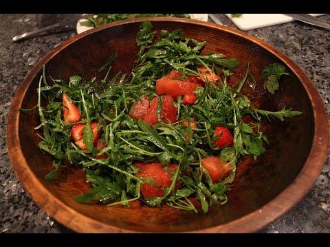 Fruit and Arugula Salad - OrsaraRecipes