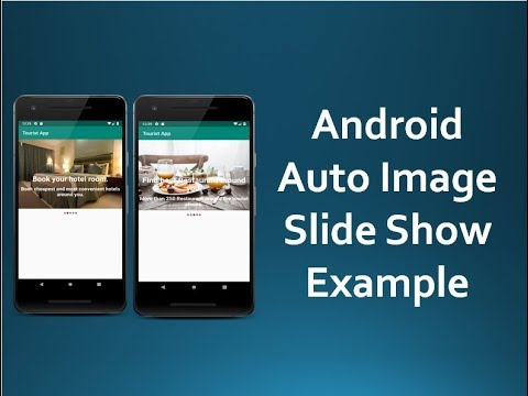 Android Auto Image Slider with round Indicator
