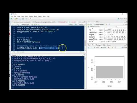 Calculating values for a RV with a Uniform Distribution using R - Random Number Generator Example