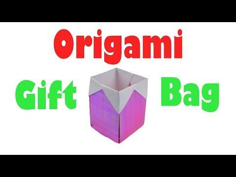 How to Fold an Origami Gift Bag / Christmas Gift Basket