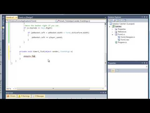 5 of 9: Developing a computer game using C#.Net