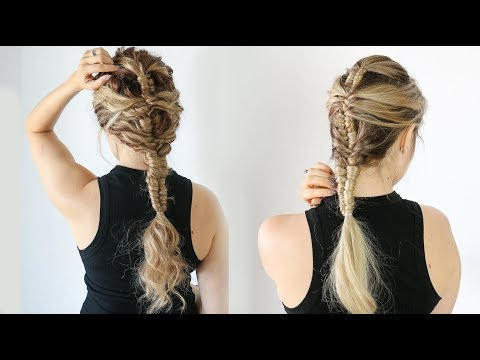 How to: Mermaid Infinity braid (on straight and curly hair!) - KayleyMelissa