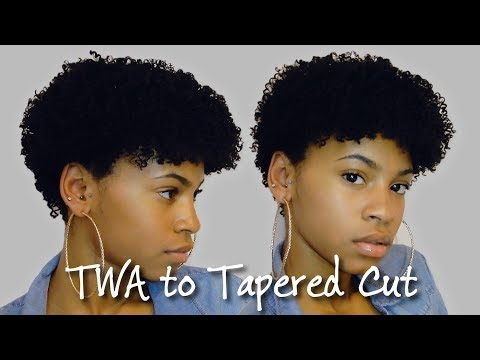 Curly Tapered Fro Using Clip Ins