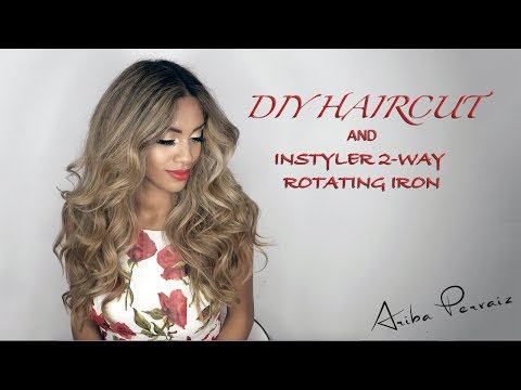 DIY HairCut and Instyler 2-Way Rotating Iron | ARIBA PERVAIZ