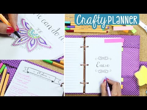 ¡Cumple tus objetivos con esta agenda! Crafty Planner & Mandalas ✄ Craftingeek
