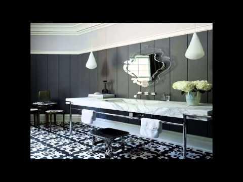 Art deco style bathroom lighting