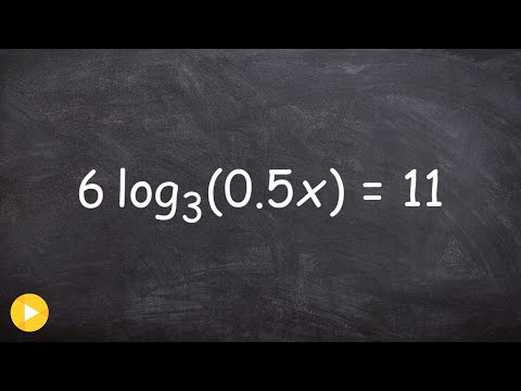 Solving an logarithmic equation