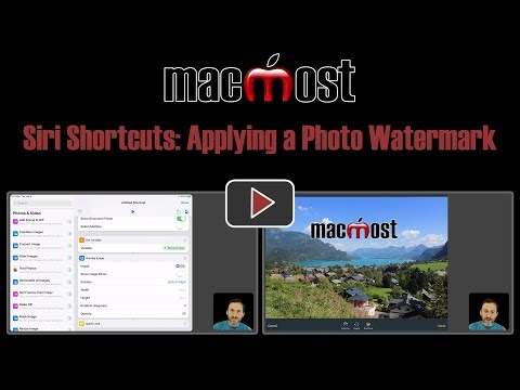 Siri Shortcuts: Applying a Photo Watermark (MacMost #1802)