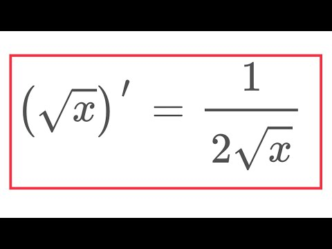 Derivative of square root of x in many languages