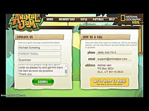 How to get Long black spike collar free Animal jam *PATCHED - Read Description*