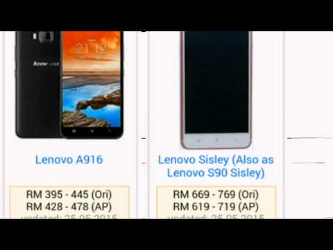 Lenovo Smartphone price in Malaysia updated 2015