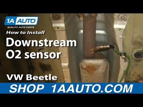 How To Install Replace Downstream O2 sensor 1.8T 2001 VW Beetle
