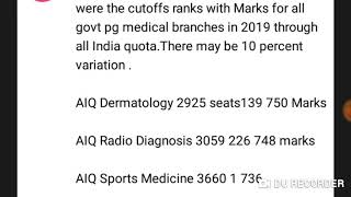 Neet pg Cutoff ranks with marks all government medical colleges in 2019