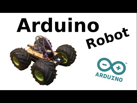 Arduino Distance Sensing Robot Car With Code