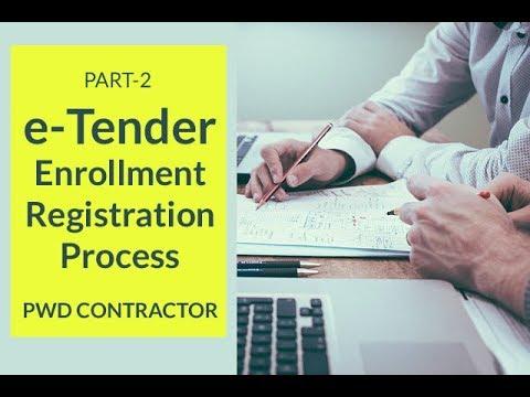 eTender Contractor Registration Process l Part 2 l PWD Contractor eTender l Hindi l Suraj Laghe