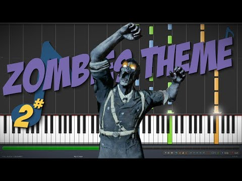 Damned – Call of Duty: Zombies Theme || Synthesia Piano Tutorial (SampleChunk1000)