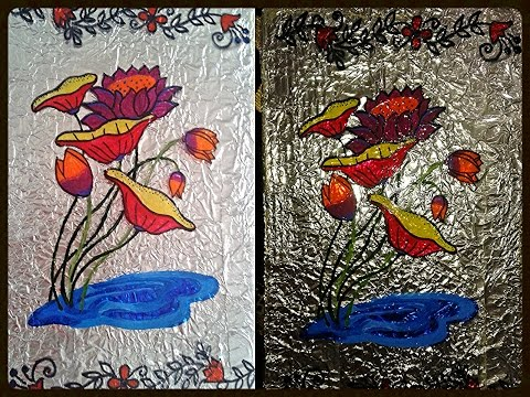 Easy Aluminium Foil Paper Wall Painting.. DIY Looks Beautiful..
