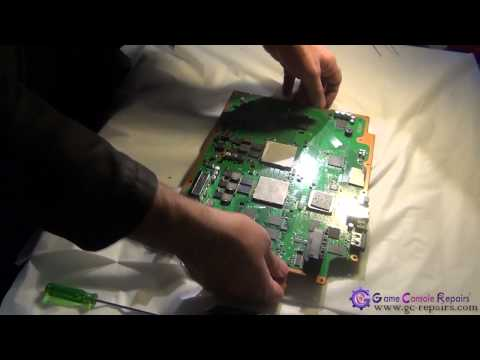 PS3PHAT   60GB  CECHC02   YLOD Repair via Reflow using Heatgun by gc repairs com