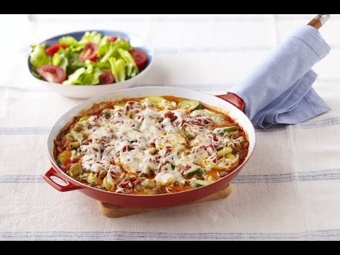 How to Make Skillet Vegetable Lasagna Video