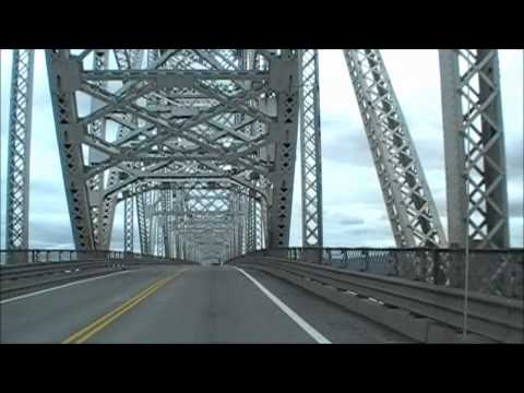 Longview Bridge - driving across to Washington State