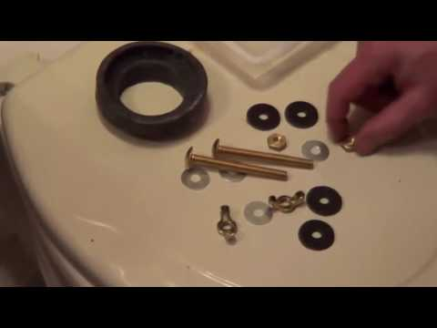 How To Fix a Leaking Toilet Tank - Remove Rusted Toilet Bolts