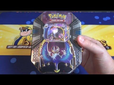 Pokemon Sun & Moon Lunala GX Tin Opening