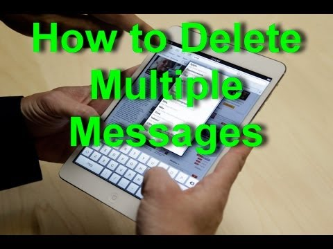 Apple iPad - How to Delete Multiple Messages
