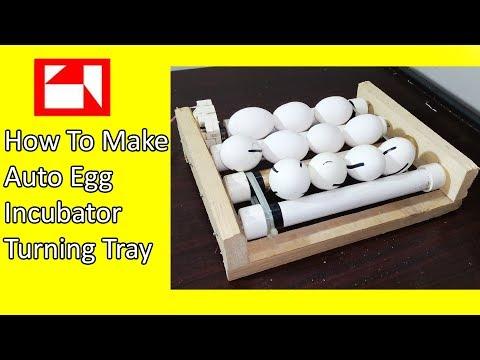 How to make auto egg turner for incubator - egg turn tray - chicken incubator - egg incubator