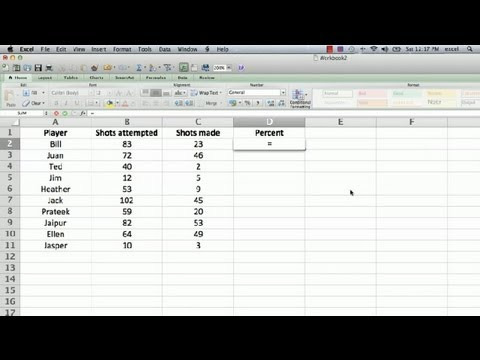How to Display a % Sign in an Excel Formula : Using Microsoft Excel