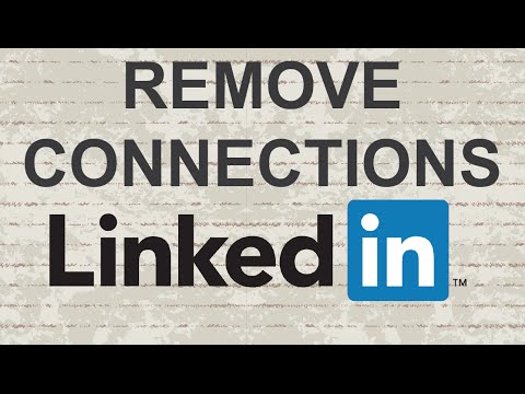 How to remove connections on LinkedIn