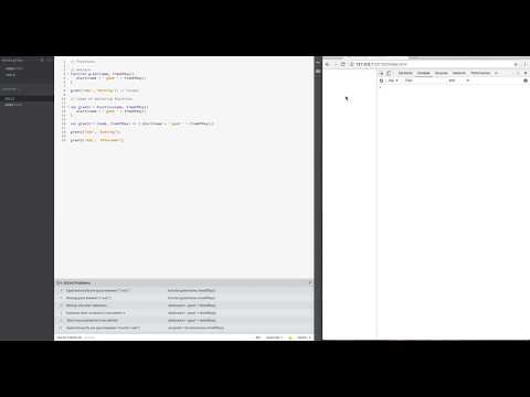 Javascript- Functions