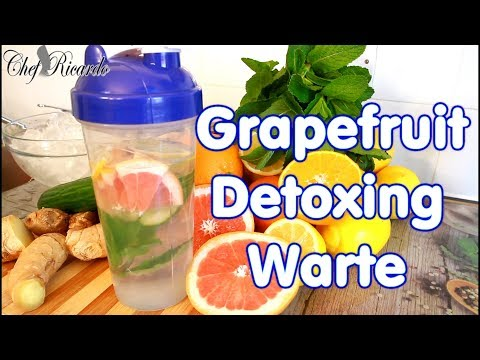 Grapefruit Detoxing Water For Summer. | Recipes By Chef Ricardo