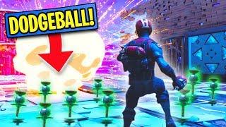 WE BUILT A SKY BASE ARENA AND PLAYED CLINGER DODGEBALL! | Fortnite Battle Royale Custom Games