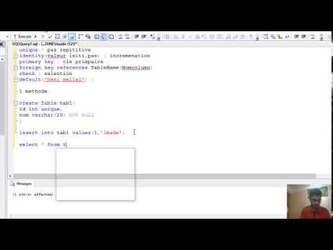 5#Cours SGBD1 SQL Server (contraint/constraint ) Darija