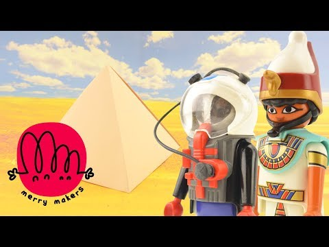 How to make a Pyramid for Kids using Paper with Playmobil Egyptian