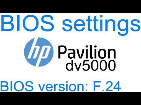 rd #234 HP Pavilion dv5000 BIOS settings in pictures