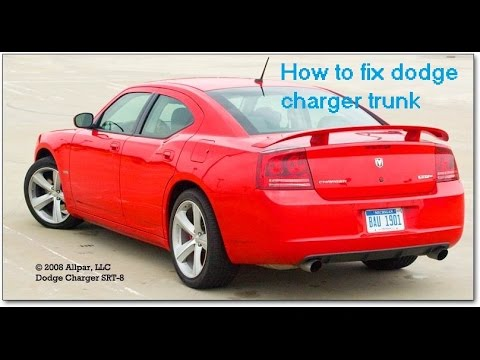 How to fix trunk (button/fob) dodge charger