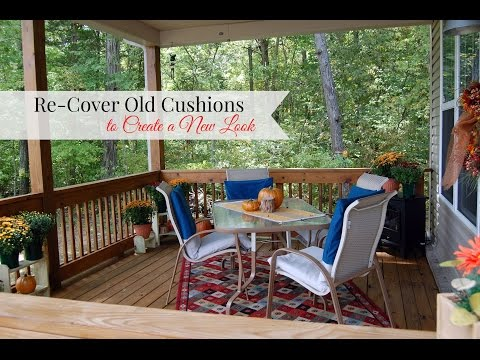 How to Recover Porch Cushions for  a New Look
