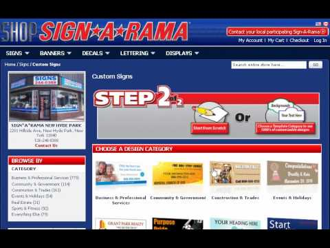 Design Signs Online with Sign A Rama