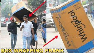 BOX WRAPPING PEOPLE PRANK || PRANK IN INDIA || MOUZ PRANK
