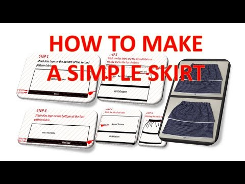 How to make a gathered skirt with elastic waistband