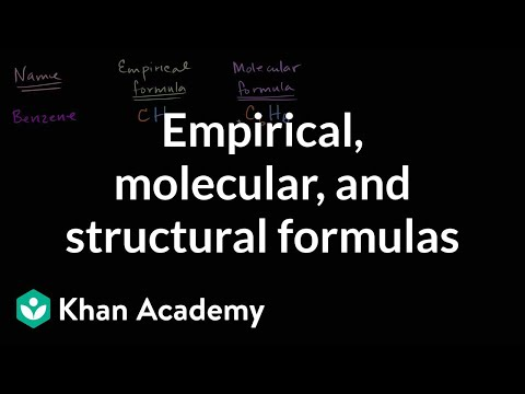 Empirical, molecular, and structural formulas | Chemistry | Khan Academy