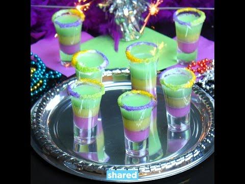 King Cake Jello Shots