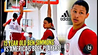 15 Y/O Ben Simmons DOMINATING vs America