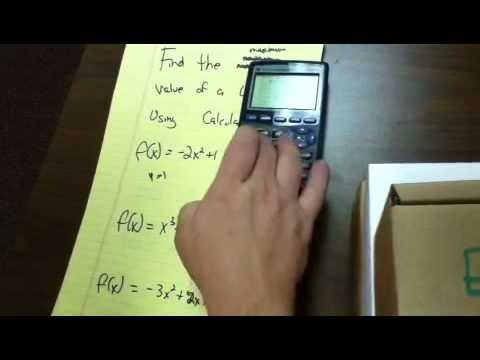 Finding the maximum/minimum value on the graphical calculator pt1 - 15
